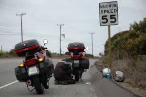 Reifenpanne nach Malibu
